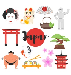 Japanese traditional objects vector