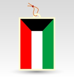 Kuwaiti flag made in tag vector