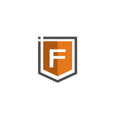 letter f shield logo vector image