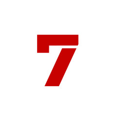 logo number 7 red vector image
