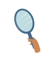Magnifying loupe in hand detective agency vector