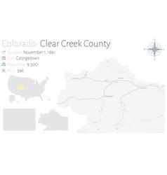 map clear creek county in colorado vector image
