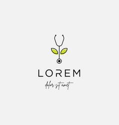 medical leaf logo design nature medicine icon vector image