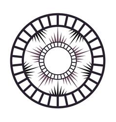 Minimalist radial mandala vector
