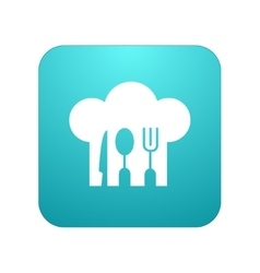 modern restaurant app icon on white vector image