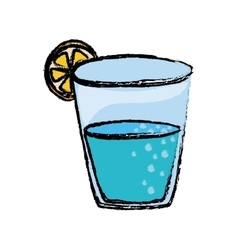 Natural water glass vector