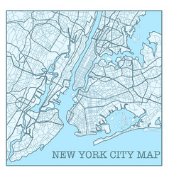 New york city blue poster vector