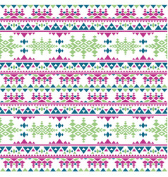 peruvian aztec seamless pattern boho style vector image
