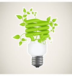 power saving green vector image