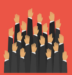 Raised up hands vector