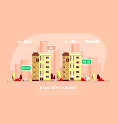 real estate concept banner stock vector image
