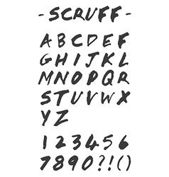Scruff - Hand Drawn Alphabet vector image