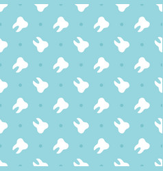 seamless pattern background with white teeth vector image