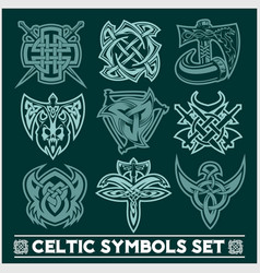 Set of celtic symbols icons vector