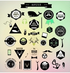 Set of hipster vintage retro label vector image