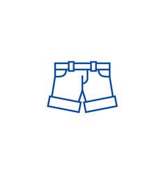 Shortsbriefs line icon concept shortsbriefs vector