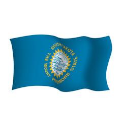 South dakota waving flag the mount rushmore state vector
