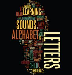 Teach your child the alphabet text background vector