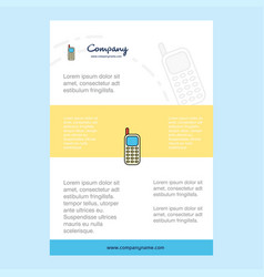 template layout for mobile phone comany profile vector image