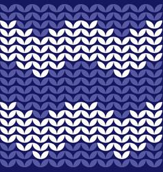 Tile zig zag knitting pattern or winter background vector