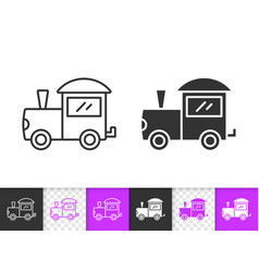 train batoy simple black line icon vector image