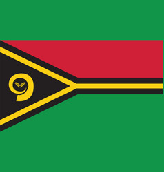 Vanuatu flag for independence day and infographic vector