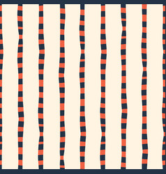 vertical irregular hand drawn stripes red blue vector image