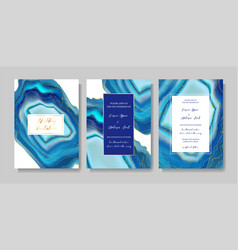 wedding fashion geode or marble template cover vector image
