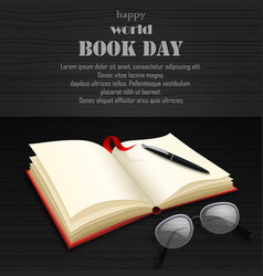 world book day with open book vector image