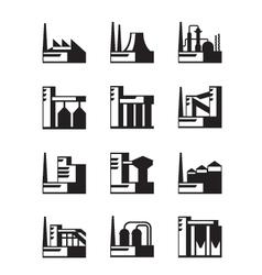 Industrial construction set vector image vector image