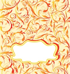 Autumn orange background seamless floral texture vector image vector image