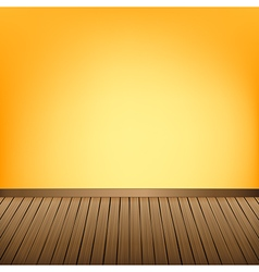 Brown wood floor texture and Yellow wall vector image vector image