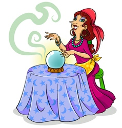 fortune teller vector image vector image