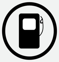 Fuel station icon black white vector image