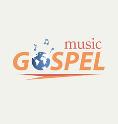 gospel music in world vector image