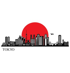 Tokyo city silhouette skyline vector image vector image