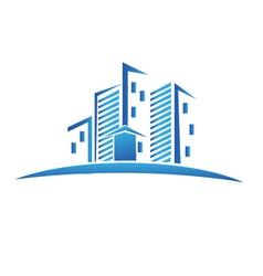 Buildings real estate logo vector