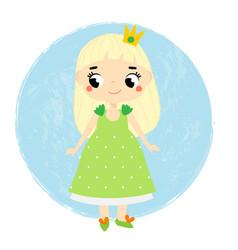 cute princess little baby girl in queen crown vector image vector image
