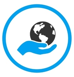 Earth Care Icon vector image vector image