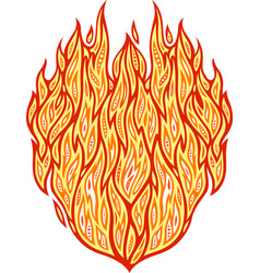 hot fire pattern vector image