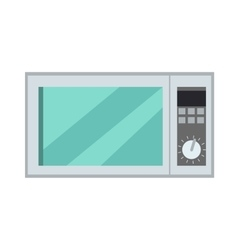 Microwave Oven Isolated Kitchen Appliance vector image