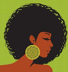 profile silhouette African-American woman vector image vector image