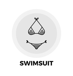 Swimsuit Line Icon vector image vector image