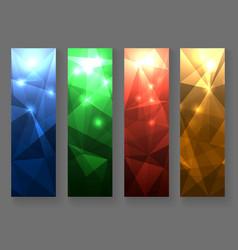 abstract polygonal banner set vector image vector image