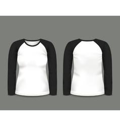 Black raglan sweatshirt long sleeve vector image