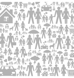 Family a background vector image