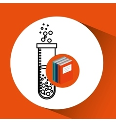 library books school science chemistry vector image