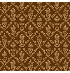 Seamless Damask Wallpaper 2 Cream Color vector image vector image