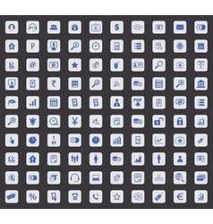 100 B2B icon set square vector