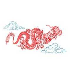 A chinese dragon vector
